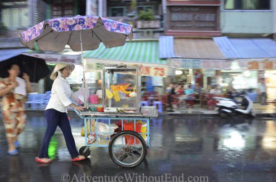 Saigon Cart in Rain