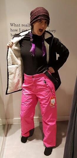 Pink ski pants