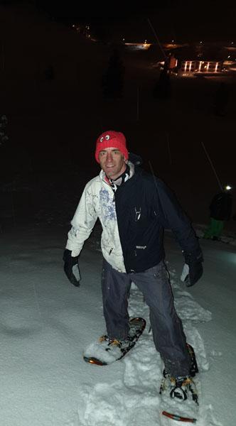 Tony snow-shoeing