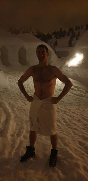 Tony to the Sauna